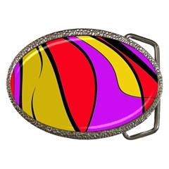 Colorful lines Belt Buckles