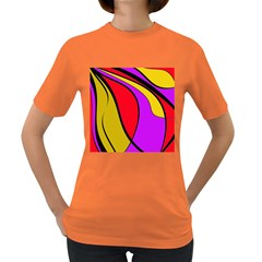 Colorful lines Women s Dark T-Shirt