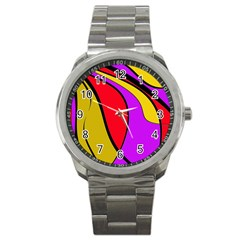 Colorful lines Sport Metal Watch