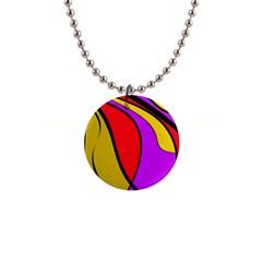 Colorful lines Button Necklaces