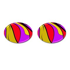 Colorful lines Cufflinks (Oval)