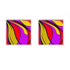 Colorful lines Cufflinks (Square)