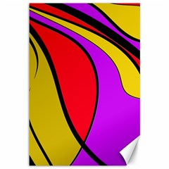 Colorful lines Canvas 12  x 18