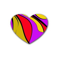 Colorful lines Heart Coaster (4 pack)