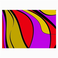 Colorful lines Large Glasses Cloth