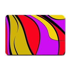 Colorful lines Small Doormat