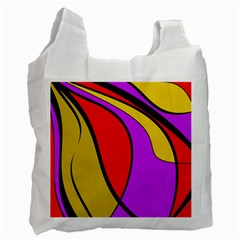 Colorful lines Recycle Bag (Two Side)