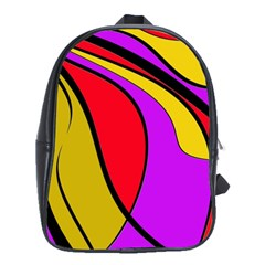 Colorful lines School Bags(Large)