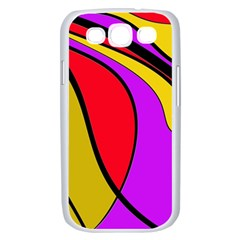 Colorful lines Samsung Galaxy S III Case (White)