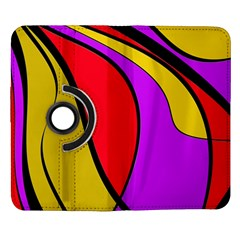 Colorful lines Samsung Galaxy Note II Flip 360 Case