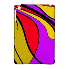 Colorful lines Apple iPad Mini Hardshell Case (Compatible with Smart Cover)