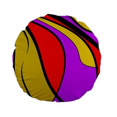 Colorful lines Standard 15  Premium Round Cushions