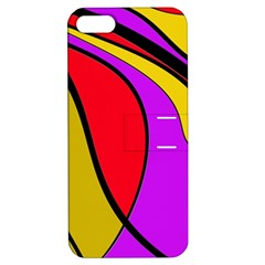 Colorful lines Apple iPhone 5 Hardshell Case with Stand