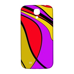 Colorful lines Samsung Galaxy S4 I9500/I9505  Hardshell Back Case
