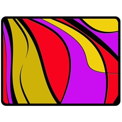Colorful lines Double Sided Fleece Blanket (Large)