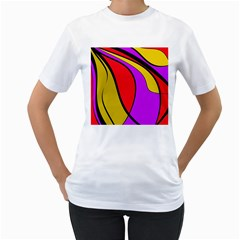 Colorful lines Women s T-Shirt (White)