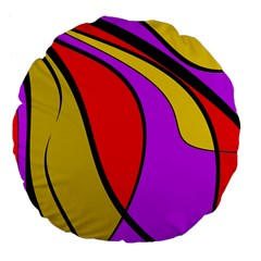 Colorful lines Large 18  Premium Flano Round Cushions