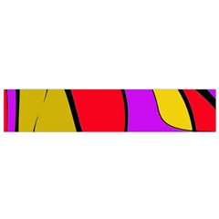 Colorful lines Flano Scarf (Small)