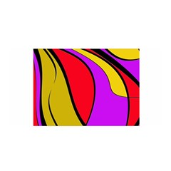Colorful lines Satin Wrap