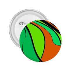 Green and orange 2.25  Buttons