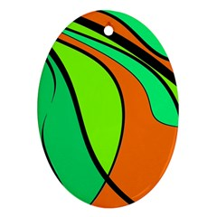 Green and orange Ornament (Oval)
