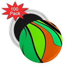 Green and orange 2.25  Magnets (100 pack)
