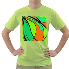 Green and orange Green T-Shirt