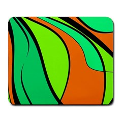 Green and orange Large Mousepads