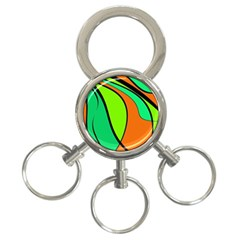 Green and orange 3-Ring Key Chains