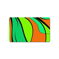 Green And Orange Magnet (name Card)