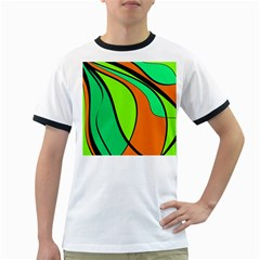 Green and orange Ringer T-Shirts
