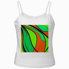 Green And Orange Ladies Camisoles