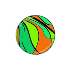 Green and orange Hat Clip Ball Marker