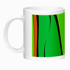 Green And Orange Night Luminous Mugs