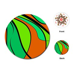 Green and orange Playing Cards (Round)