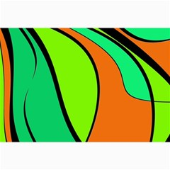 Green and orange Collage Prints