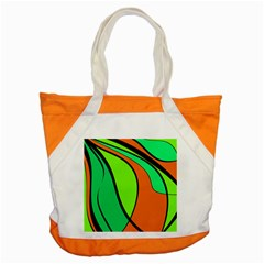 Green And Orange Accent Tote Bag