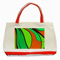Green and orange Classic Tote Bag (Red)