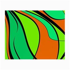 Green and orange Small Glasses Cloth (2-Side)