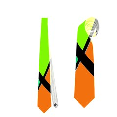 Green and orange Neckties (One Side)