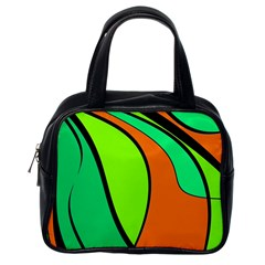 Green and orange Classic Handbags (One Side)