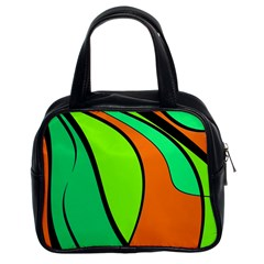 Green and orange Classic Handbags (2 Sides)
