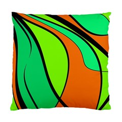 Green and orange Standard Cushion Case (Two Sides)