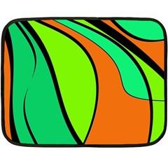 Green and orange Double Sided Fleece Blanket (Mini)
