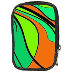 Green and orange Compact Camera Cases