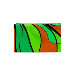 Green and orange Cosmetic Bag (Small)