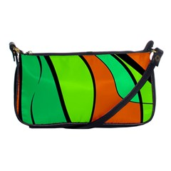 Green and orange Shoulder Clutch Bags