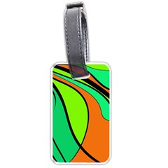 Green and orange Luggage Tags (One Side)