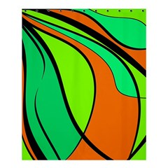 Green and orange Shower Curtain 60  x 72  (Medium)