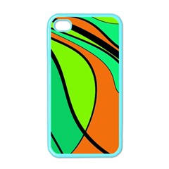 Green and orange Apple iPhone 4 Case (Color)